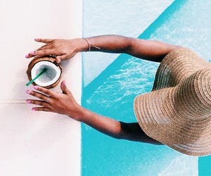drink, photography, and pool image