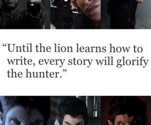 argent, hunter, and quote image