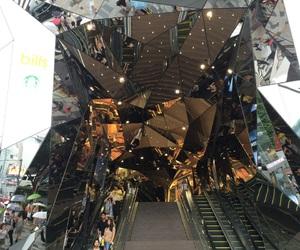 architecture, mirrors, and Shinjuku image