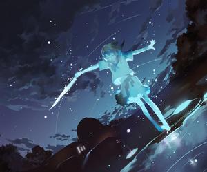anime, anime girl, and sky image