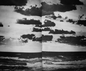black and white, clouds, and page image