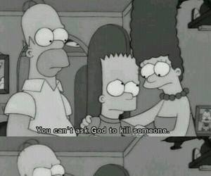 black and white, kill, and simpsons image