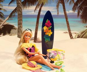 barbie doll and summer fashion image