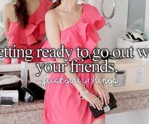 friends, dress, and pink image