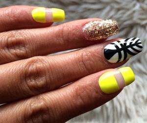 nail art, nails, and yellow nails image