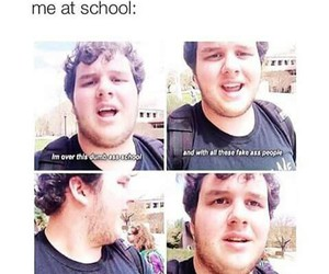 funny, school, and me image