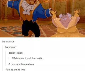 funny, beauty and the beast, and disney image