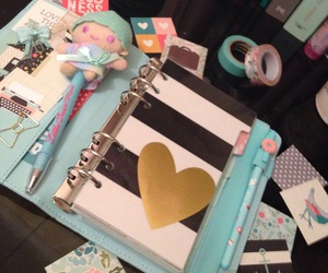 agenda, planner, and little twin stars image