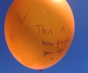 orange, life, and balloons image