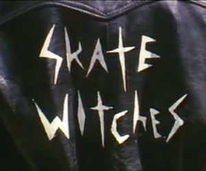 skate, witch, and leather image