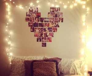 bedroom, pictures, and polaroid image