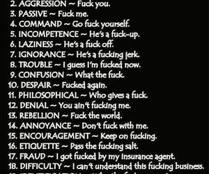 funny, fuck, and f word image