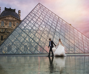 louvre, paris, and wedding image
