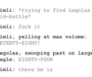 eagle, funny, and Legolas image