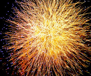 fireworks, new year, and yellow image