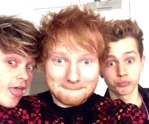 ed sheeran, the vamps, and james mcvey image