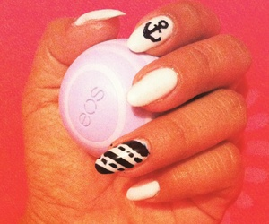 nails, white, and anclas image