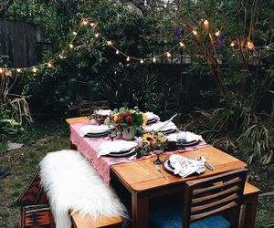 backyard, date, and dinner image