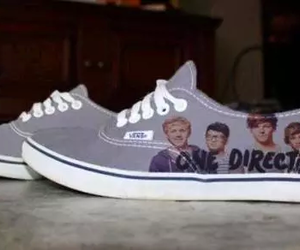 one direction, vans, and shoes image