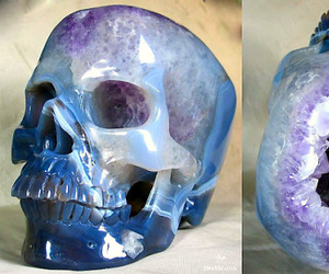 skull, crystal, and blue image