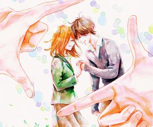 couple, manga, and orange image