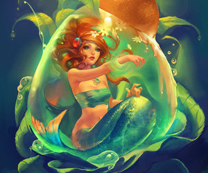 mermaid and art image