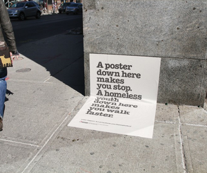 homeless, quote, and poster image