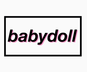 babydoll, tumblr png, and word image