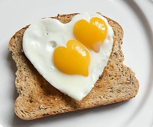 food, heart, and breakfast image