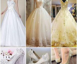 beauty, wedding dress, and women image