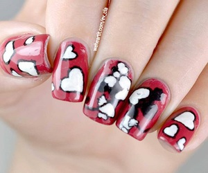 fashion, red nails, and pretty nails image