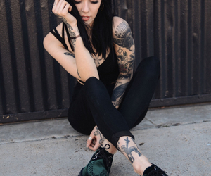 tattoo, black, and hannah snowdon image