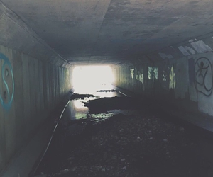 grunge, tumblr, and tunnel image
