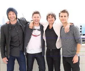 supernatural, paul wesley, and Jensen Ackles image