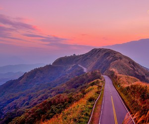 adventure, road, and sky image