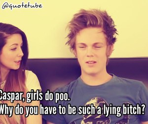 youtube, zoella, and caspar lee image