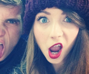 zoella, selfie, and thatcherjoe image