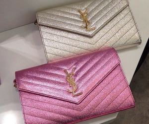 luxury, YSL, and pink handbags image