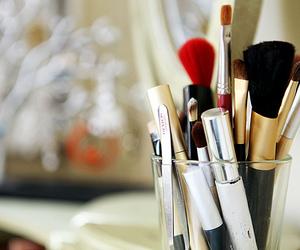 Brushes, make up, and makeup image