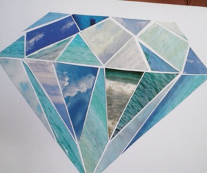 art, blue, and Collage image