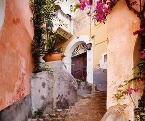 italy, flowers, and house image
