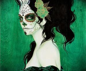 art, dia de los muertos, and day of the dead image