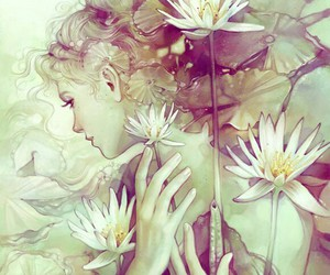 artwork, beauty, and flower image