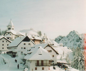 winter, snow, and vintage image