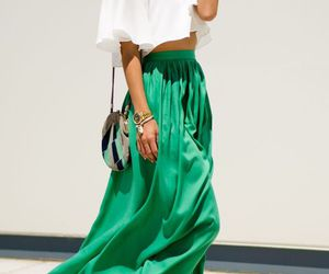 green, clothes, and skirt image