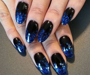 black, blue, and glitter image