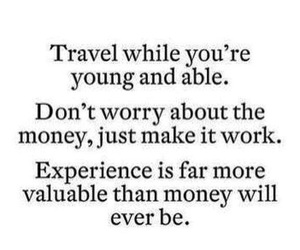 travel, quote, and experience image