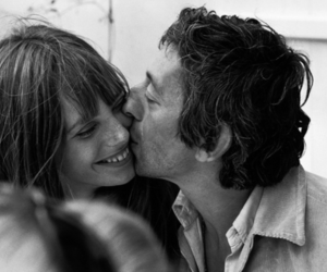 jane birkin, couple, and serge gainsbourg image