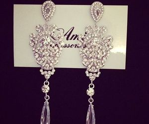 earrings, luxury, and diamond image
