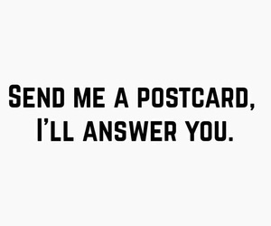 answer, gimme, and postcard image